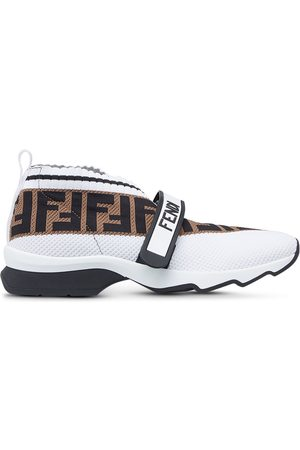 Fendi Women Sneakers - Monogram-embellished low-top sneakers