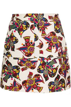 La DoubleJ Abstract patterned high-waisted skirt - Neutrals