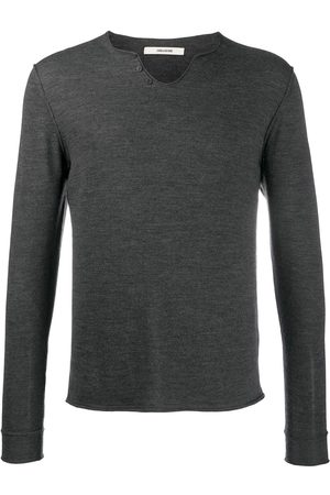 Zadig & Voltaire Monastir Henley-neck sweater - Grey