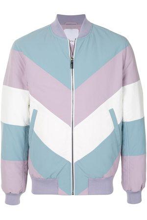Ports V Colour-blocked zip-up bomber jacket - Multicolour