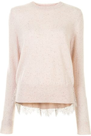 Onefifteen Lace panel cashmere top