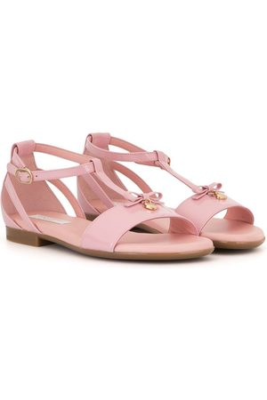 Dolce & Gabbana Girls Sandals - T-strap patent leather sandals