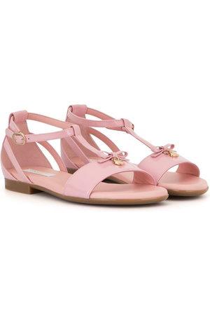 Dolce & Gabbana T-strap patent leather sandals
