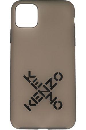 Kenzo Logo-print iPhone 11 Pro case - Grey