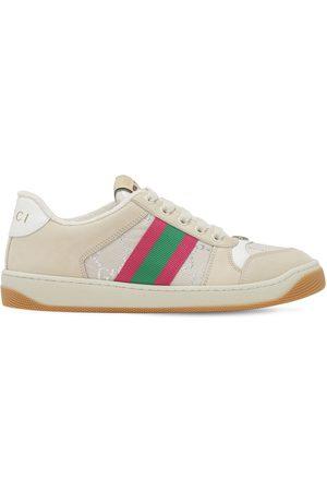 Gucci 10mm Screener Leather & Jacquard Sneaker