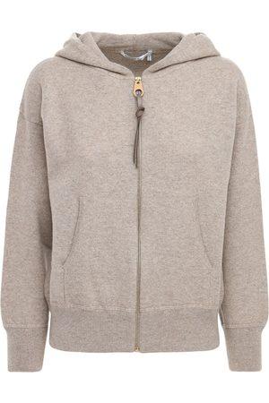 Agnona Zip-up Cashmere Knit Hoodie