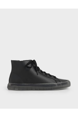 CHARLES & KEITH Women Sneakers - Clear Sole High Top Sneakers