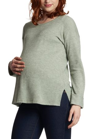 Everly Grey Women's Andria Maternity/nursing Thermal Top