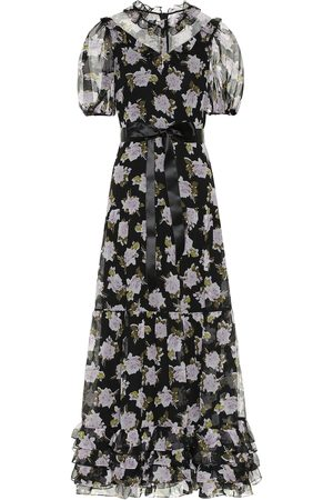 Erdem Elinor floral silk voile maxi dress