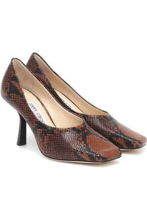 Jimmy Choo Marcela 85 snake-print leather pumps