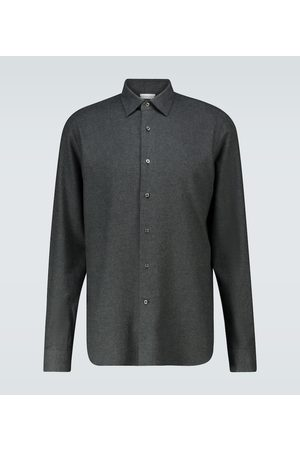 CARUSO Slim-fit long-sleeved shirt