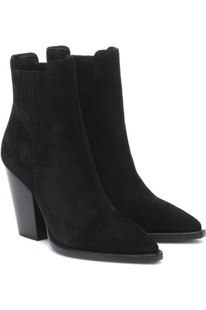 Saint Laurent Theo 95 suede ankle boots