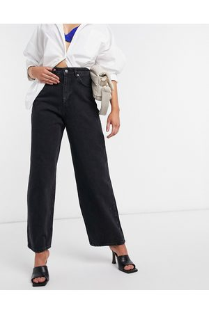 ASOS High rise 'relaxed' dad jeans in washed