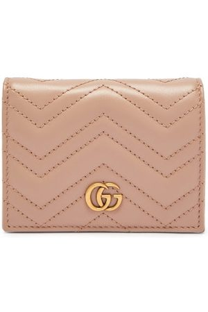 Gucci GG Marmont Bi-fold Quilted-leather Cardholder - Womens - Nude