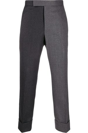 Thom Browne Super 120s Flannel Classic Trouser - Grey