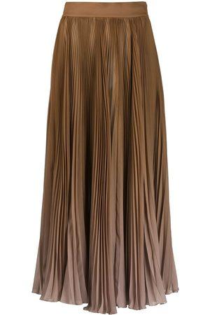 Dolce & Gabbana Degradé-effect pleated chiffon skirt