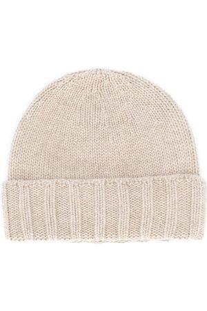 Drumohr Men Beanies - Cashmere knitted beanie hat - Neutrals