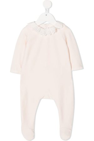 Chloé Logo monogram collar baby grow
