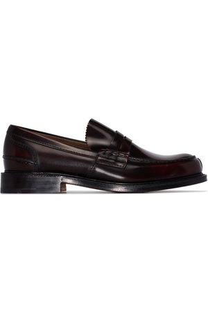 Church's Burgundy Willenhall leather loafers