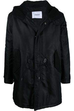 Dondup Drawstring-waist hooded coat - Neutrals