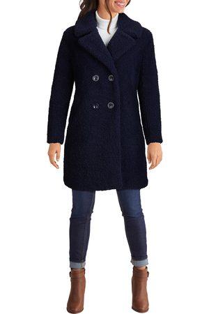 Kenneth Cole New York Women Coats - Women's Notch Collar Curly Faux Shearling Coat