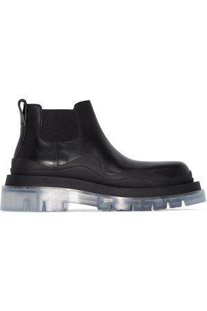 Bottega Veneta Transparent-sole chunky ankle boots