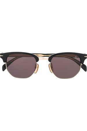 David beckham Square half-frame sunglasses