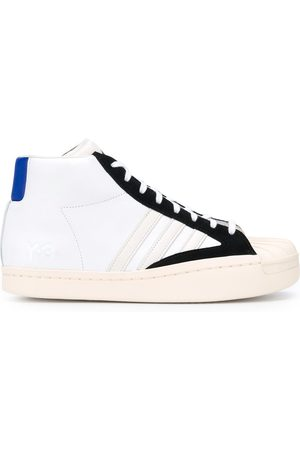 Y-3 High top contrast trim sneakers