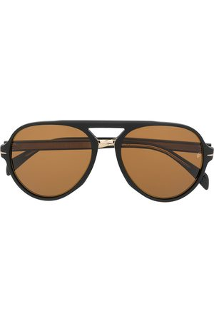 Eyewear by David Beckham Aviator tinted sunglasses
