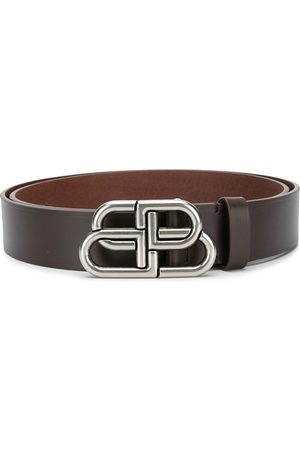 Balenciaga Logo buckle leather belt