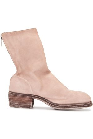 GUIDI Women Ankle Boots - Suede zip-up ankle boots