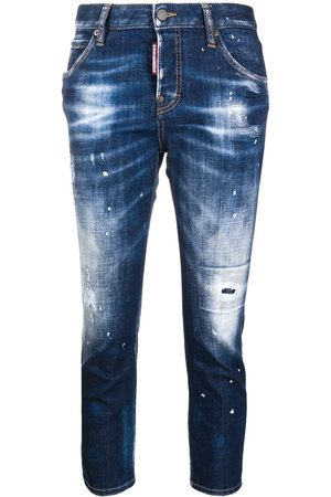Dsquared2 Women Jeans - Cropped distress jeans