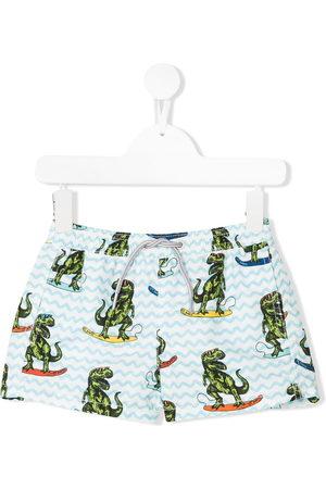 MC2 SAINT BARTH Boys Swim Shorts - Dinosaur print swim shorts