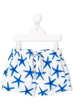 MC2 SAINT BARTH Boys Swim Shorts - Star print swim shorts