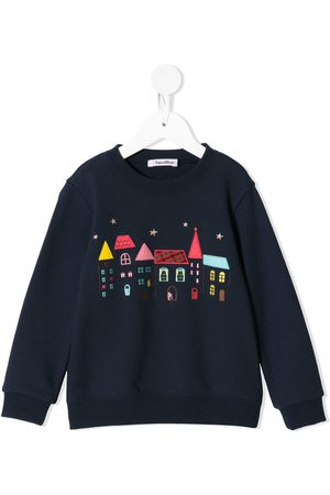 Familiar House embroidery sweatshirt