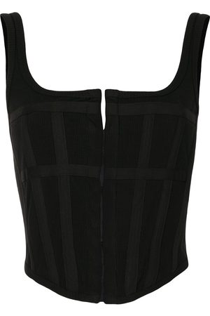 DION LEE Cropped corset top