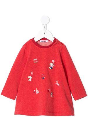 Familiar Embroidered animal sweatshirt