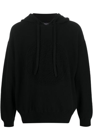 VERSACE Drawstring cashmere-blend hoodie