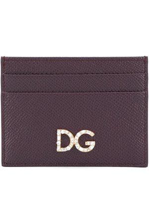 Dolce & Gabbana Rhinestone logo cardholder