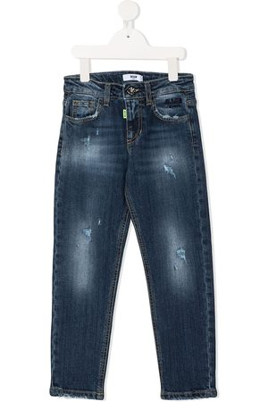 Msgm Boys Straight - Logo straight-leg jeans