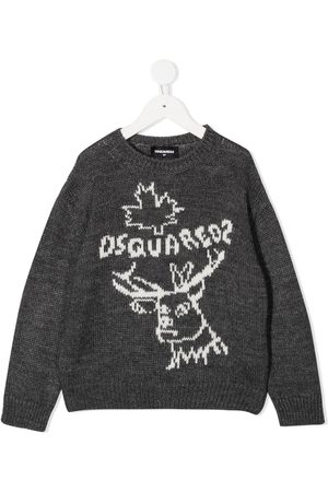 Dsquared2 Reindeer crew neck jumper - Grey