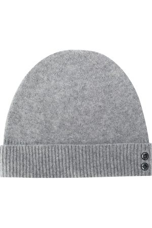 RON DORFF Ribbed knit beanie hat - Grey