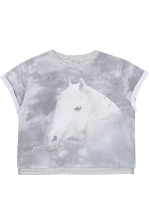 Stella McCartney Printed stretch-cotton T-shirt