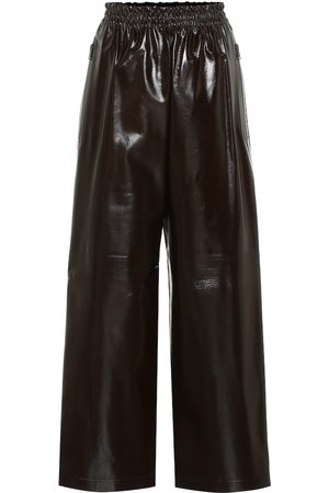 Bottega Veneta High-rise wide-leg leather pants
