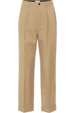 Saint Laurent High-rise wool gabardine pants