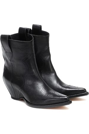 Maison Margiela Leather cowboy boots