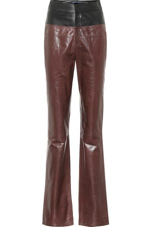 Zeynep Arcay Flared leather pants
