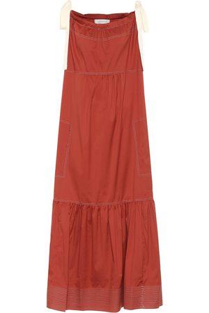 Lee Mathews Sara cotton-blend poplin maxi dress