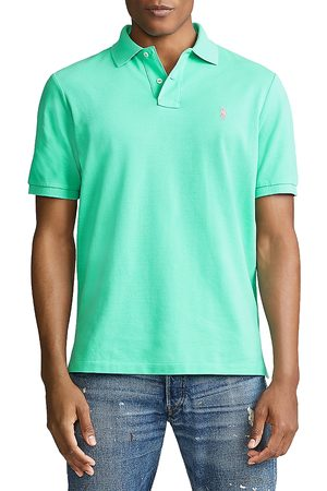 Polo Ralph Lauren Cotton Mesh Custom Slim Fit Polo Shirt