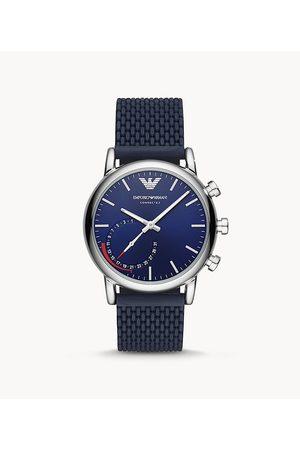 Brands Men Smart Watches - Emporio Armani Men's Hybrid Smartwatch 3 - Matte Silicone
